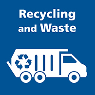 Recycling and waste button image